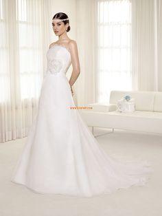 Corte A Organza Flores Vestidos de novias 2014