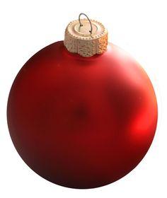 "2.75"" Christmas Red Ball Ornament - Matte Finish"