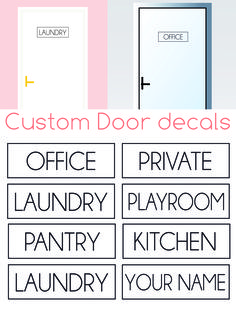 https://www.etsy.com/listing/289448153/office-decallaundry-decalcreate-your-own?ref=shop_home_active_1 #doordecals #door #decals #laundry #decal #laundrydecal #officedecal