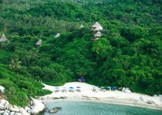The Santa Marta Hotel - Ecohabs in Tayrona National Park, Colombia. a wonderful place to connect with nature. Columbia Cartagena, Tayrona National Park, Equador, Natural Park, Quito, Where To Go, Beautiful Beaches, Wonderful Places, Trip Planning