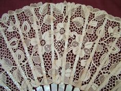 Youghal lace fan - Irish lace of a type not frequently found in fans