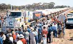 "The Amazing Stuff: Australian ""Road-Train"" (79 trailers) Guinness book of world records."