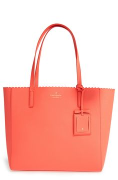 This spacious leather tote from Kate Spade is perfect for carrying all the essentials. The color is so too cute as well!