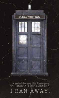 I RAN AWAY!  Doctor who!
