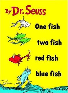 Dr. Seuss One Fish, Two Fish, Red Fish, Blue Fish T-Shirt: White T-Shirt - I found this on www.tshirtnow.net