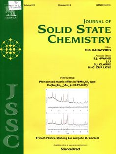 Публикации в журналах, наукометрической базы Scopus  Journal of Solid State Chemistry #Solid #State #Chemistry #Journals #публикация, #журнал, #публикациявжурнале #globalpublication #publication #статья