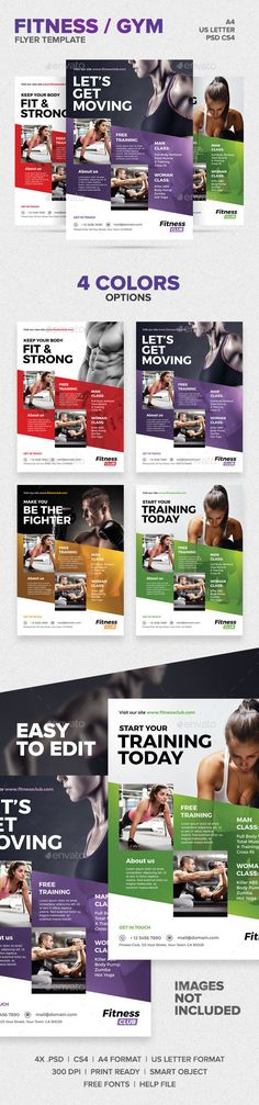 Fitness / Gym Flyer Template - Another creative flyer design for the fitness and health industry. Cost 6$