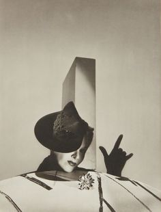 I love you' - Lisa Fonssagrives with hat by Balenciaga and gloves by Boucheron, Paris Horst P Horst 1938