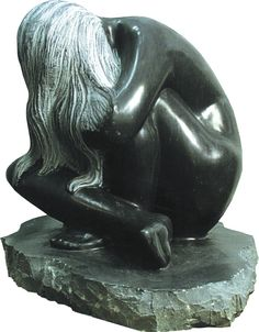 Stone female body hand-crafted from granite. Take a look at http://www.stonestatuestore.com/natural-stone-granite-animals