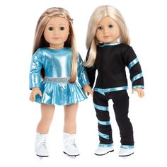 Super Skater - 2 Complete Ice Skating Doll Outfits for 18 inch Dolls – Dreamworld Collections