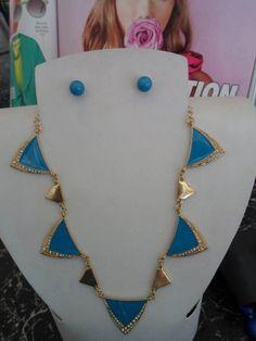 MAXICOLLAR  azul y dorado! Ven a tienda o pide a domicilio. Búscanos en www.facebook.com/koeberaccesorios <3 <3