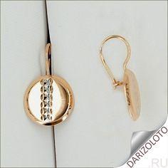 Золотые серьги. Цена и фото