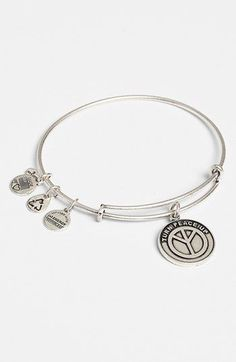Alex and Ani 'World Peace' Expandable Wire Bangle available at #Nordstrom