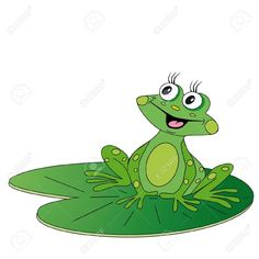 """5/"""" Adorable frog lilly pad wall sticker glossy cut out border character"""