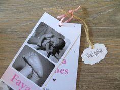 Geboortekaart Faya Polaroid Film