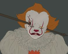 Starts crying when things aren't going his way. What a wimp. Help I can't stop drawing this clown When those kids you want to eat are mean to you Its 2017, Le Clown, Pennywise The Dancing Clown, Fanart, Meant To Be, It Hurts, Horror, Kawaii, Deviantart