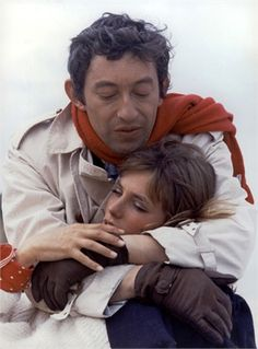 "Serge Gainsbourg e Jane Birkin, 1968 Sul set di ""Slogan"" by Pierre Grimblat"