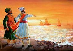 Father of Indian Navy-Chhtrapati Shivaji Maharaj Indian Navy Day, Shivaji Maharaj Painting, Ganpati Bappa Wallpapers, Ancient Indian History, Hd Wallpapers 1080p, Hd Backgrounds, Shivaji Maharaj Hd Wallpaper, Warriors Wallpaper, Lord Shiva Painting
