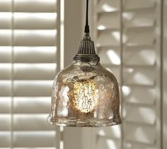 Serena Antique Mercury Glass Pendant - Great light on a budget.  Very Nice