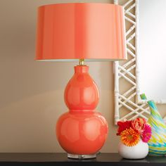 Pop Color Modern Ceramic Table Lamp - 10 colors! (These are a little pricey for me...but I want this pop of color for my lamps in my bedroom)