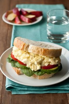 light egg salad - this is so delicious! made with greek yogurt rather than tons of mayo.