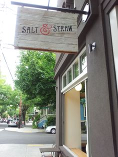 The best tasting ice cream ever! Salt and Straw in Portland, Oregon on 23rd street.