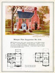 Seventy-two designs for fireproof homes | House Plans 1900 - 1930s ...