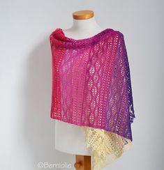 Featured Designer & Maker: Bernadette Ambergen (Crafts from the Cwtch) Crochet Shawls And Wraps, Crochet Scarves, Crochet Hooks, Knit Crochet, Crochet Wrap Pattern, Crochet Patterns, Crochet Ideas, Simple Shirts, Digital Pattern