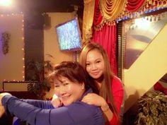 mama miki and i at alabang  x'mass party 12242013