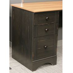 Sauder Office Furniture Harbor View L-Desk with Hutch and Reversible Storage, Cherry/Antique Black  http://www.furnituressale.com/sauder-office-furniture-harbor-view-l-desk-with-hutch-and-reversible-storage-cherryantique-black/