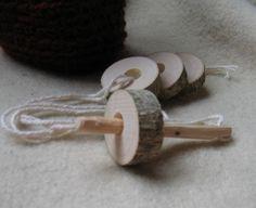 Perle de branche pour enfants jeu de laçage par NaturalEarthFarm