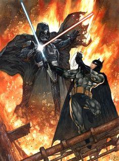Batman vs. Vader .... too awesome.