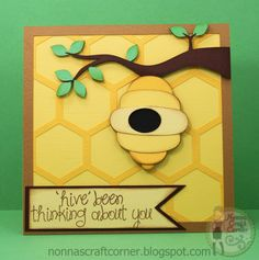 Nonnas Craft Corner: hive been thinking about you...