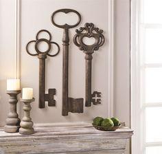 Set of 10 Vintage Keys Wall Art - jcpenney   Home Decor Ideas ...