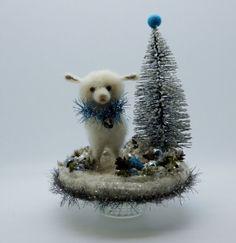 Fairy Tale Lg Easter Winter White Lamb wool by swanquarterhouse