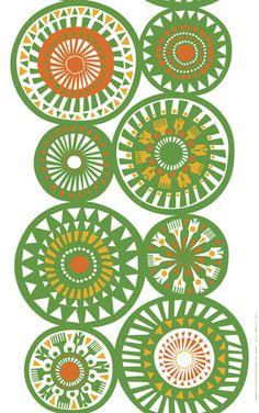 """Marimekko """"Taikamylly"""" fabric designed by Sanna Annukka"""