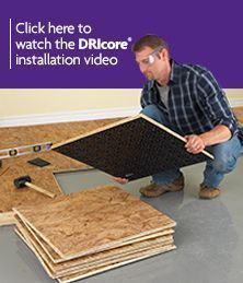 inexpensive flooring DRIcore Subfloor Basement Flooring DIY Tips useful information for the new house and this house Modern Flooring, Slate Flooring, Linoleum Flooring, Diy Flooring, Bedroom Flooring, Concrete Floors, Penny Flooring, Ceramic Flooring, Kitchen Flooring