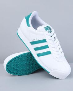 Adidas Samoa Sneakers in Turquoise & White