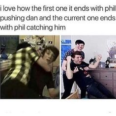 ok last one BUT THIS IS SO LAKSHDH even if dan has more subs than Phil, Phil always there for Dan and that is amazing (like phil)