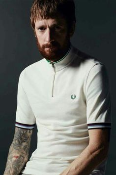Fred Perry teams up with cycling star Bradley Wiggins on a collection of color  blocked tops 5d18461ca