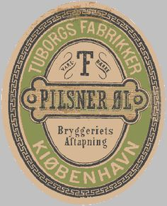 Early Tuborg Beer #label