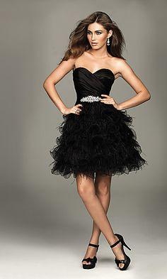 Strapless Short Dress by Allure  junior bridesmaid option 4