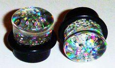 Rainbow Glitter Plugs - $4.99 - Ear Gauges