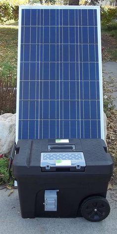 Portable 3000 Watt 100Ah Solar Generator & 100 Watt Solar Panel