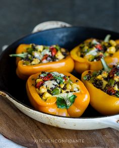 Lentil Stuffed Peppers (to make vegan use a vegan cheese or replace with breadcrumbs, pine nuts or omit) Lentil Recipes, Vegetable Recipes, Vegetarian Recipes, Healthy Recipes, Whole Food Recipes, Great Recipes, Dinner Recipes, Cooking Recipes, Recipe Ideas