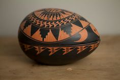 Acoma New Mexico Sky City Native American Indian Pottery Turtle Egg Shaped Trinket Box Dish Native American Pottery, Native American Indians, American Indian Decor, Southwest Pottery, Ethnic Diversity, Wood Artwork, Earthenware, Gourds, Trinket Boxes