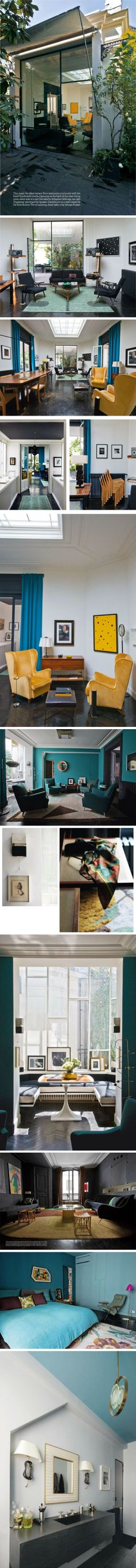 Charlotte Gainsbourg & Yvan Attal Home by Florence Lopez