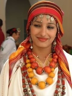 Moroccan woman dressed in traditional Berber clothes….north Africans are Africans too…