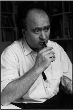 Georges Wolinski (1934-2015) - French cartoonist and comics writer. Wolinski was killed on 7 January 2015 in a terrorist attack on Charlie Hebdo along with other staff. Photo © Martine Franck/Magnum Photos, 1988