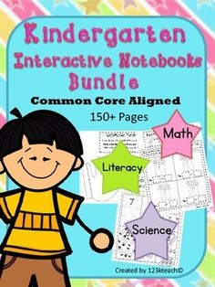This Kindergarten Interactive Notebook Bundle includes Literacy, Math and Science Activities. This Bundle will save you 22% off as these products would cost $19.00 if sold separately. It also includes many of the Common Core Standards for the Entire Year! It is a fabulous way to get your students practicing their skills and show off what they have learned.